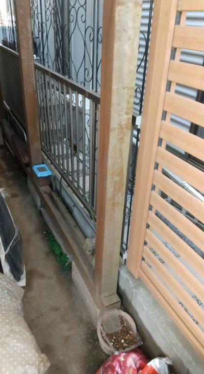屋外木部塗装工事